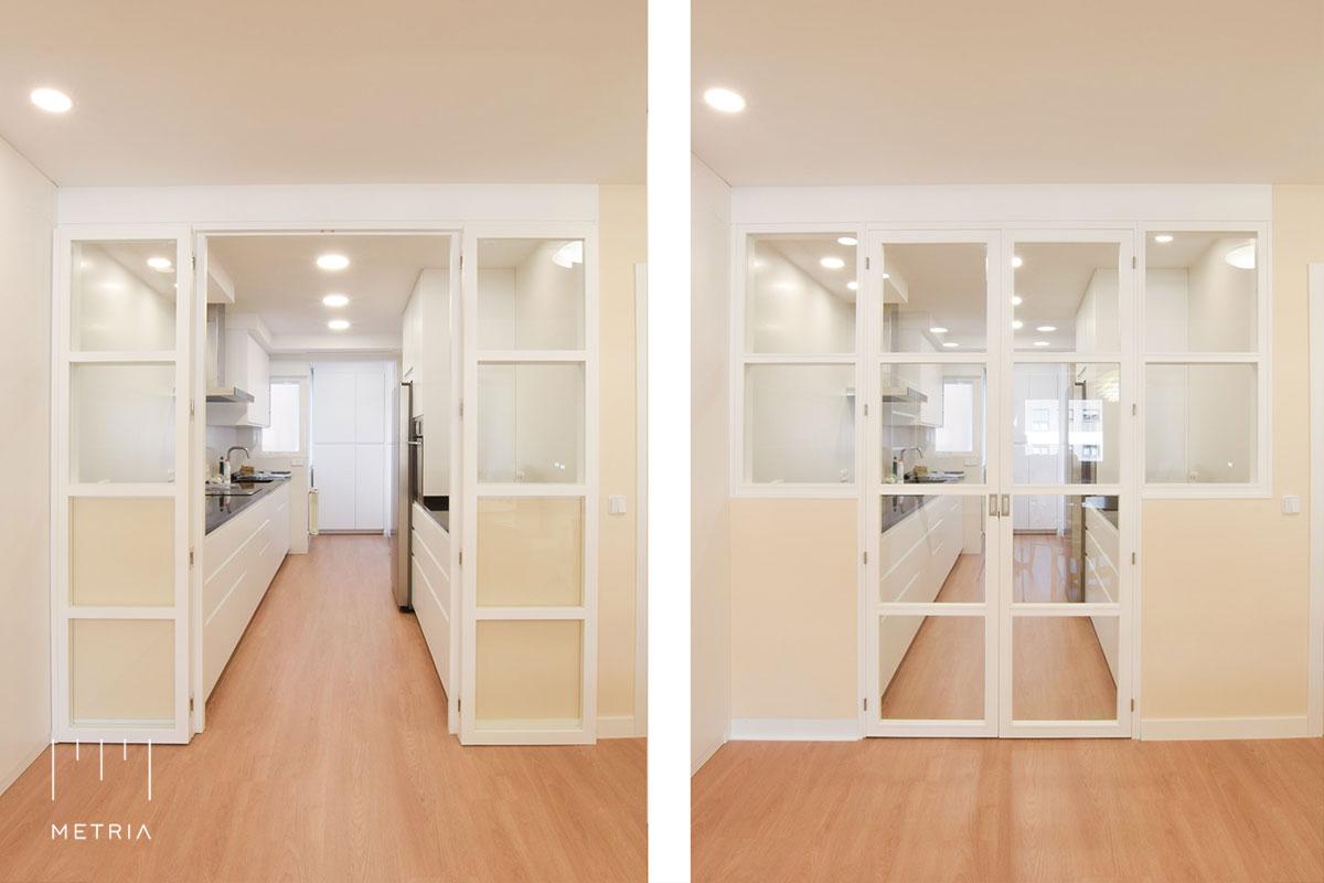 Reforma piso puertas cocina