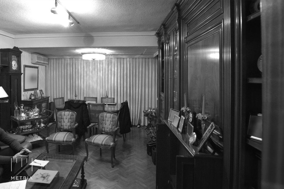 Reforma piso salón antes